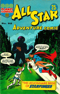 Cover Thumbnail for All Star Adventure Comic (K. G. Murray, 1959 series) #92