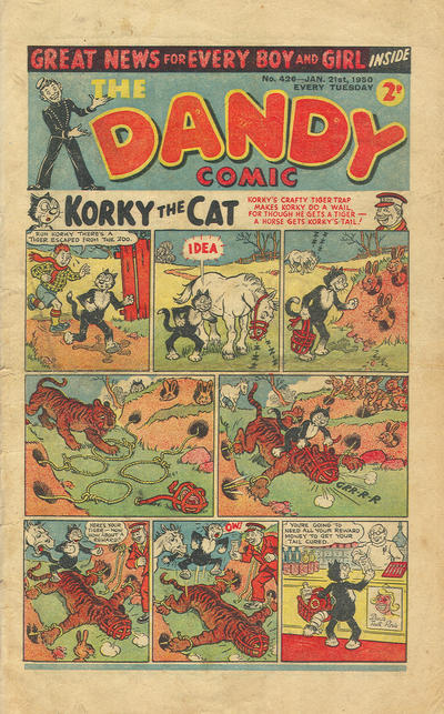 Cover for The Dandy Comic (D.C. Thomson, 1937 series) #426