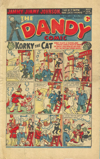 Cover for The Dandy Comic (D.C. Thomson, 1937 series) #424