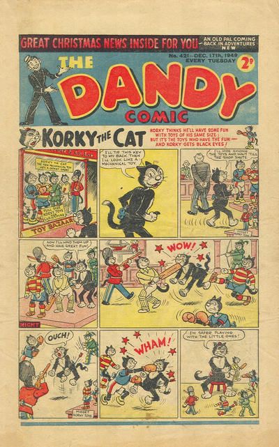 Cover for The Dandy Comic (D.C. Thomson, 1937 series) #421