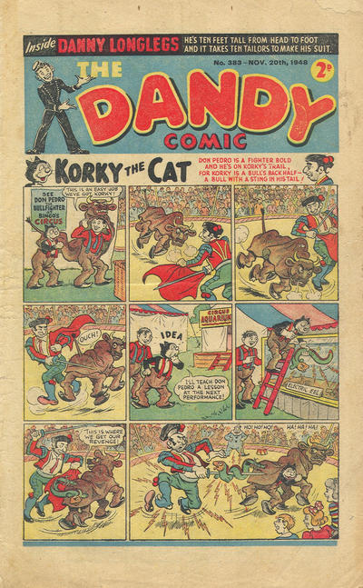 Cover for The Dandy Comic (D.C. Thomson, 1937 series) #383