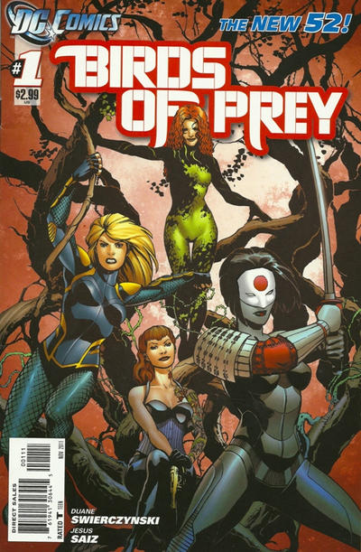 Cover for Birds of Prey (DC, 2011 series) #1