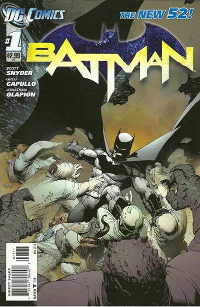 Cover for Batman (DC, 2011 series) #1 [Warner Bros Studios VIP Studio Tour Presents The Batman Exhibit]