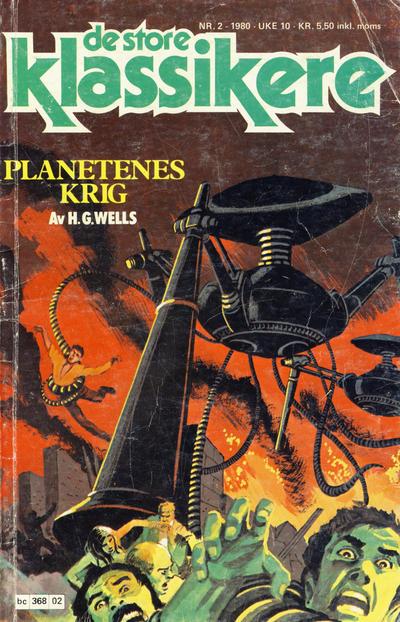 Cover for De Store klassikere (Semic, 1979 series) #2/1980