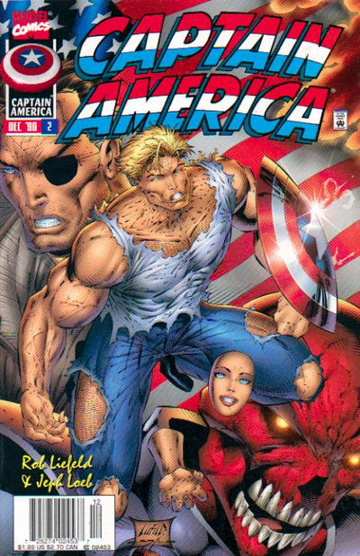 Cover for Captain America (Marvel, 1996 series) #2 [Direct Edition]