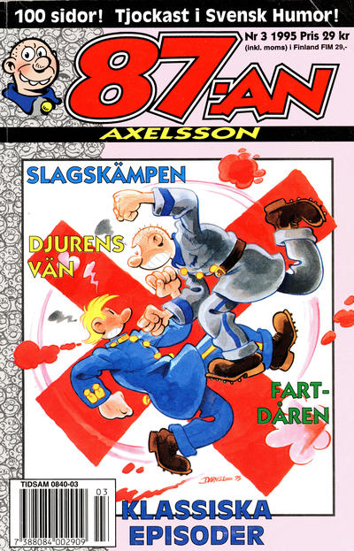 Cover for 87:an Axelsson (Semic, 1994 series) #3/1995