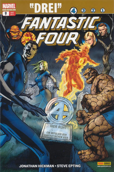 Cover for Fantastic Four (Panini Deutschland, 2009 series) #9 [Finale Variant]