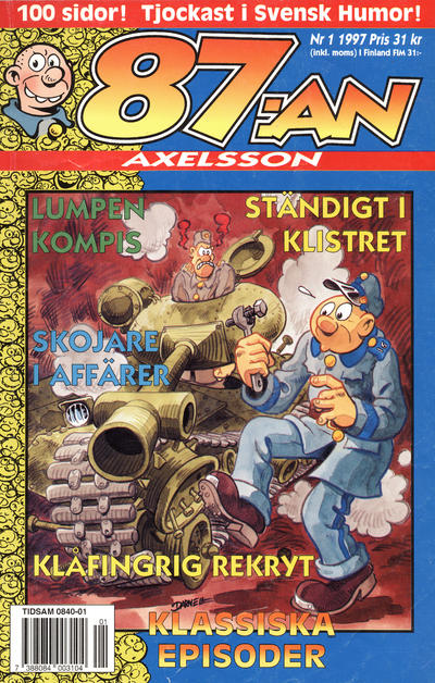 Cover for 87:an Axelsson (Semic, 1994 series) #1/1997