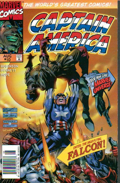 Cover for Captain America (Marvel, 1996 series) #10 [Newsstand Edition]