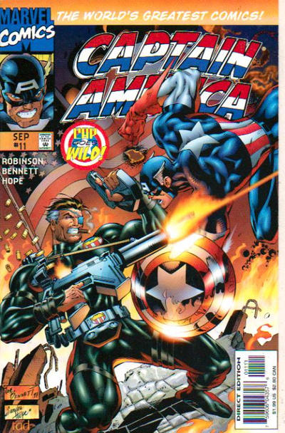 Cover for Captain America (Marvel, 1996 series) #11 [Newsstand Edition]