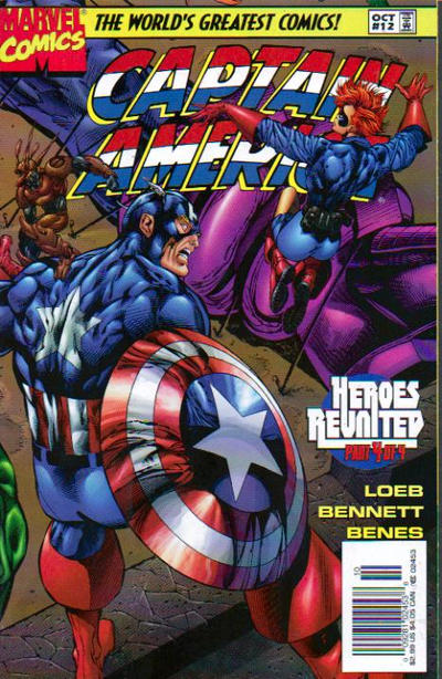 Cover for Captain America (Marvel, 1996 series) #12 [Newsstand Edition]