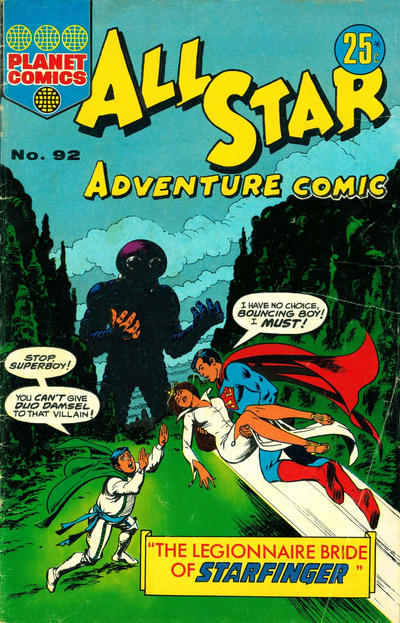 Cover for All Star Adventure Comic (K. G. Murray, 1959 series) #92