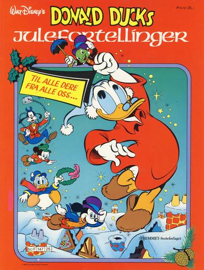 Cover for Donald Duck Julealbum (Hjemmet / Egmont, 1986 series) #[1986] - Donald Ducks julefortellinger [Reutsendelse bc-F 147 25]