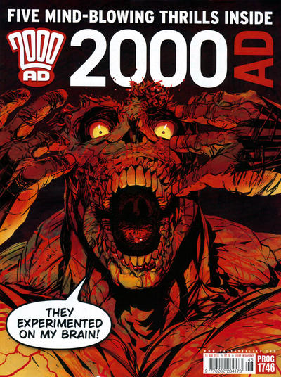 Cover for 2000 AD (Rebellion, 2001 series) #1746