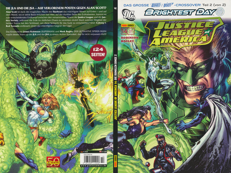Cover for Justice League of America Sonderband (Panini Deutschland, 2007 series) #14 - Die dunklen Dinge 2