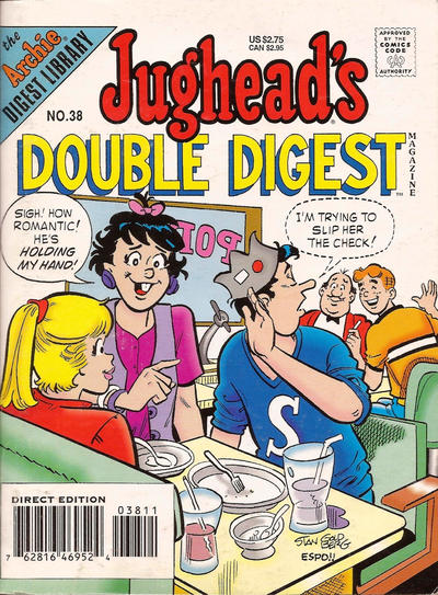 Cover for Jughead's Double Digest (Archie, 1989 series) #38 [Direct Edition]