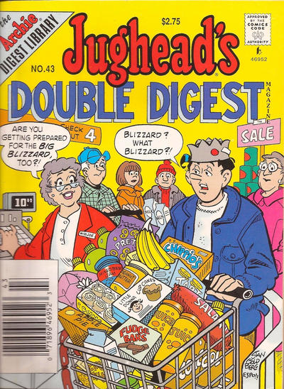 Cover for Jughead's Double Digest (Archie, 1989 series) #43
