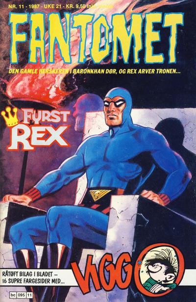 Cover for Fantomet (Semic, 1976 series) #11/1987