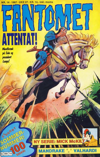 Cover for Fantomet (Semic, 1976 series) #14/1987