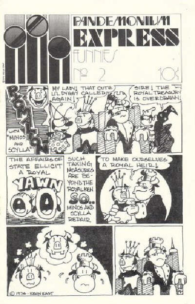 Cover for Pandemonium Express Funnies (Pandemonium Press, 1974 series) #2