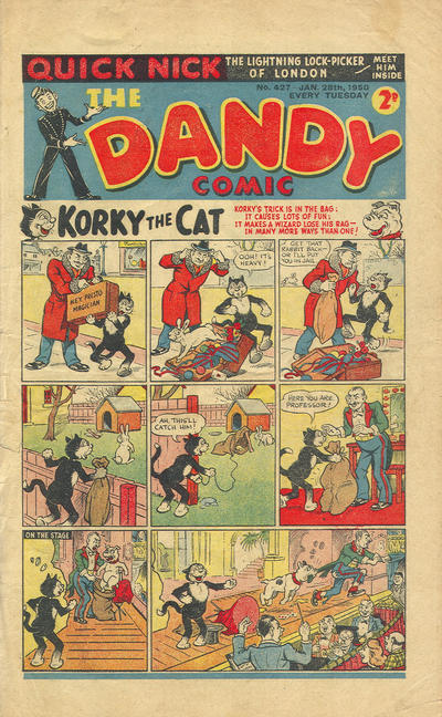 Cover for The Dandy Comic (D.C. Thomson, 1937 series) #427