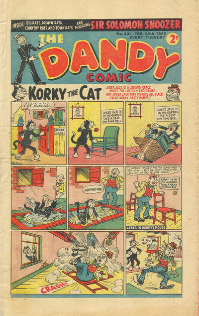 Cover for The Dandy Comic (D.C. Thomson, 1937 series) #431