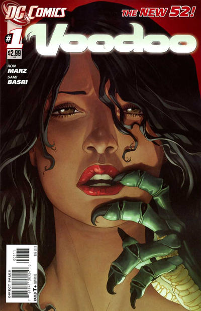 Cover for Voodoo (DC, 2011 series) #1 [2nd Print Variant]