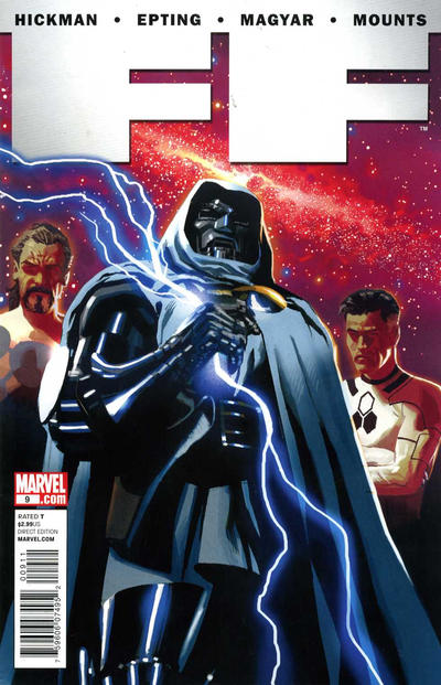 Cover for FF (Marvel, 2011 series) #9 [Fantastic Four 50th Anniversary]