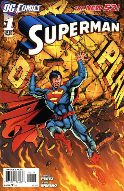 Cover for Superman (DC, 2011 series) #1 [Second Printing]