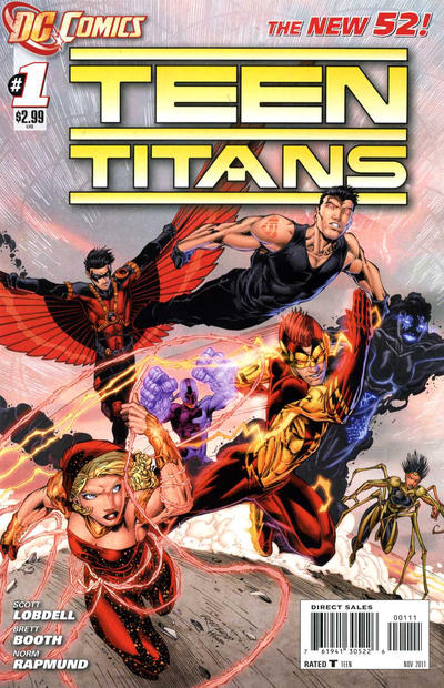 Cover for Teen Titans (DC, 2011 series) #1 [Second Printing]