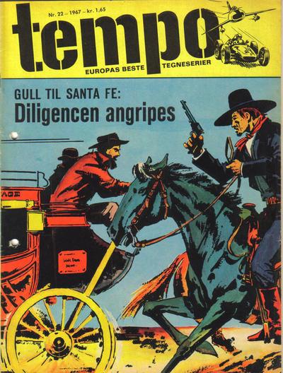 Cover for Tempo (Hjemmet / Egmont, 1966 series) #22/1967