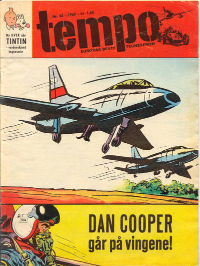 Cover for Tempo (Hjemmet / Egmont, 1966 series) #33/1967
