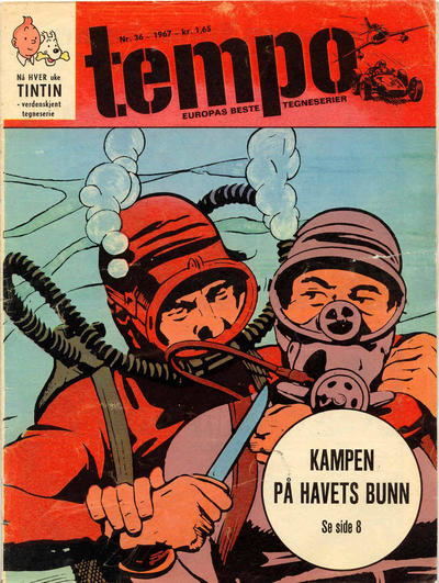 Cover for Tempo (Hjemmet / Egmont, 1966 series) #36/1967