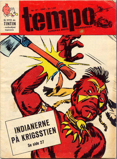 Cover for Tempo (Hjemmet / Egmont, 1966 series) #37/1967