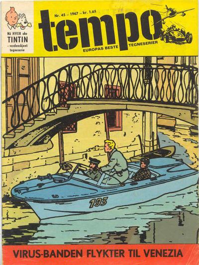 Cover for Tempo (Hjemmet / Egmont, 1966 series) #45/1967