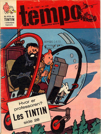 Cover for Tempo (Hjemmet / Egmont, 1966 series) #38/1967