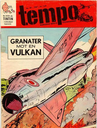 Cover for Tempo (Hjemmet / Egmont, 1966 series) #39/1967