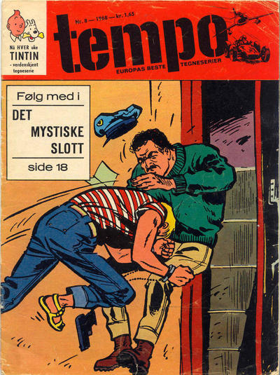 Cover for Tempo (Hjemmet / Egmont, 1966 series) #8/1968
