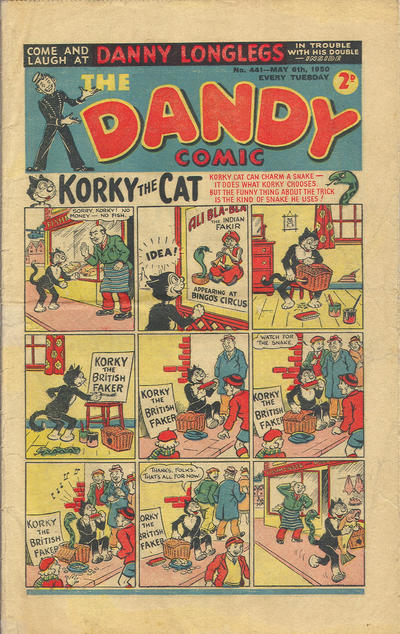 Cover for The Dandy Comic (D.C. Thomson, 1937 series) #441