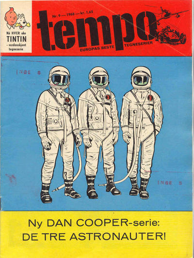 Cover for Tempo (Hjemmet / Egmont, 1966 series) #9/1968