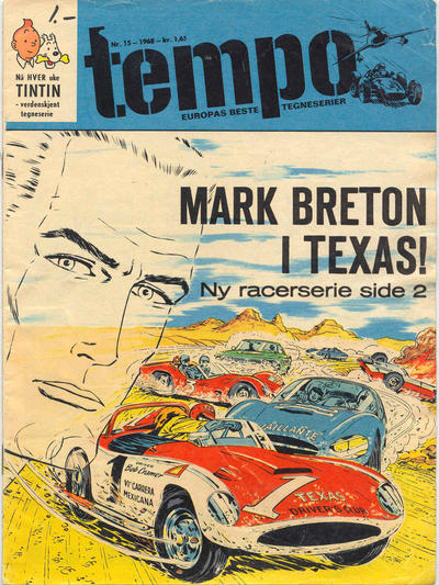 Cover for Tempo (Hjemmet / Egmont, 1966 series) #15/1968
