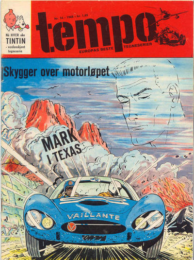Cover for Tempo (Hjemmet / Egmont, 1966 series) #16/1968