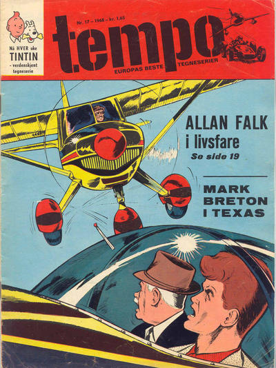 Cover for Tempo (Hjemmet / Egmont, 1966 series) #17/1968