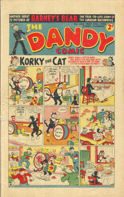 Cover for The Dandy Comic (D.C. Thomson, 1937 series) #442