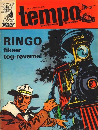 Cover for Tempo (Hjemmet / Egmont, 1966 series) #45/1968