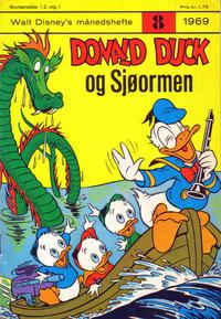 Cover Thumbnail for Walt Disney's månedshefte (Hjemmet / Egmont, 1967 series) #8/1969
