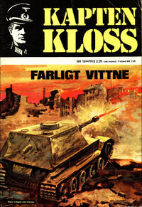 Cover Thumbnail for Kapten Kloss (Semic, 1971 series) #19 - Farligt vittne