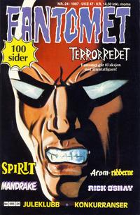 Cover for Fantomet (Semic, 1976 series) #24/1987