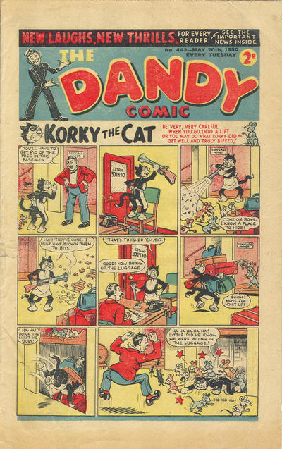 Cover for The Dandy Comic (D.C. Thomson, 1937 series) #443