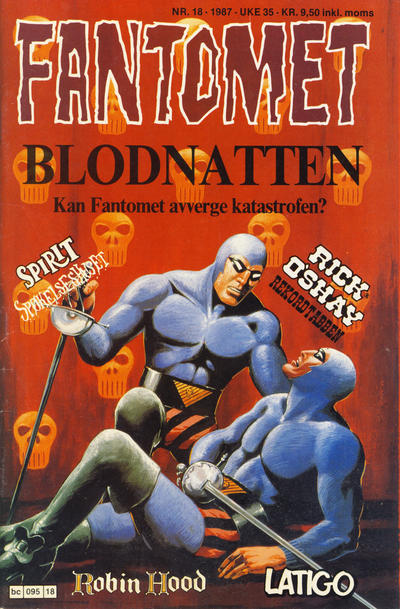 Cover for Fantomet (Semic, 1976 series) #18/1987